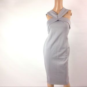 New Pink Boutique Women's Sheath Dress Gray 14